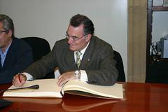El alcalde Alfredo Laudino García