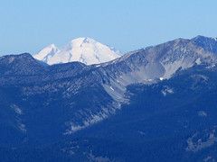 zoomed-in shot of Mt Baker from Tiffany Mountain