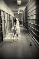I'm Free (Carolyn Hampton) Tags: girl skull dream surreal nightmare vintagedress abandonedprison soulscapes carolynhampton