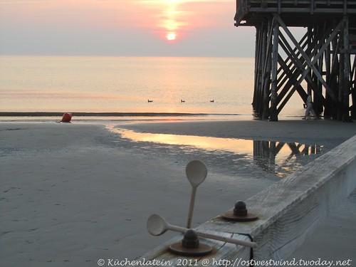 Sonnenuntergang mit Kochlöffelbegleitung