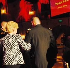 Mrs. Koch receives the Torchbearer Awards