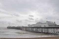 Brighton_beach_016 (Peter-Williams) Tags: uk sea seascape beach sussex pier brighton deckchair wave shore groyne
