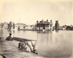 Harmandir Sahib, Golden Temple, 1868-70 (singhgurpal1) Tags: akaltakht darshanideohri viewacrossthepoolofthenectarofimmortalityamritsarovartowardsthegoldentemple c186870
