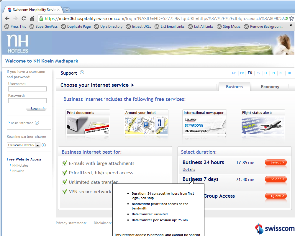 Swisscom hotel internet fail breaks google mail lousy internet fail baditri Gallery