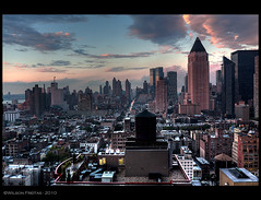 New York (WilsonFreitas) Tags: nyc newyorkcity sunset usa newyork canon eos us manhattan canonef1740mmf4lusm hdr 2010