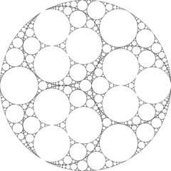 My First Apollonian Gasket (fdecomite) Tags: circle packing math fractal recursive gasket descartes povray tangent imagej tangency apollonian apollonius