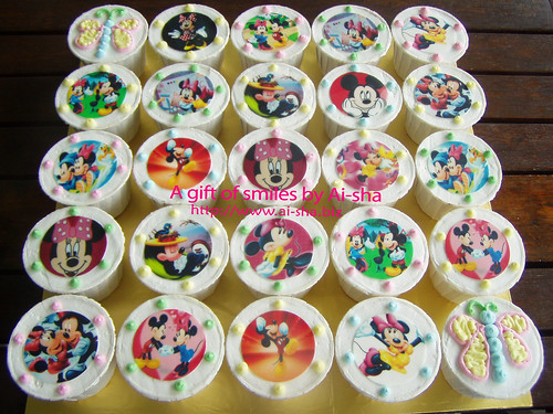 Birthday Cupcakes Edible Image Minnie & Mickey Mouse