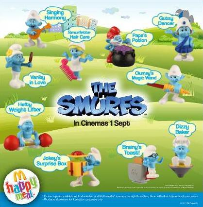 McDonald's Smurfs collectibles_Sept '11