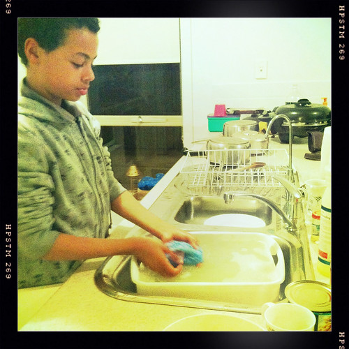 First in to do the dishes. Day 291/365.