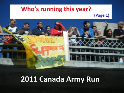 Ottawa and Area Registered Runners  Running Room  2011