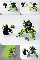'Spider' Urban Enforcement Sentry Unit (Pierre E Fieschi) Tags: factory lego fig pierre minifig turret sentry fieschi modulex autocannon miniscale heroo