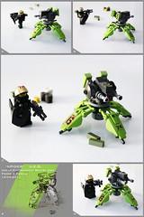 'Spider' Urban Enforcement Sentry Unit (Pierre E Fieschi) Tags: factory lego fig pierre minifig turret sentry fieschi modulex autocannon miniscale heroo
