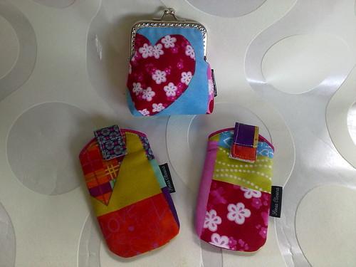 Porta moedas e porta telemóveis by ♥Linhas Arrojadas Atelier de costura♥Sonyaxana