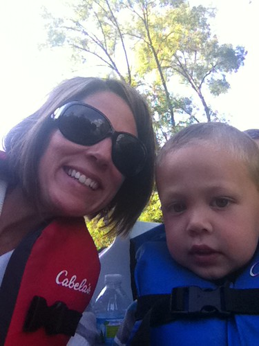 kayden and mommy paddleboating