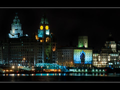 Pier head and Graces (Mister Oy) Tags: pictures uk greatbritain england night liverpool docks river lights photo ship image picture photograph queenmary2 mersey albertdock davegreen seacombe cunnard nikond700 aphotoof oyphotos