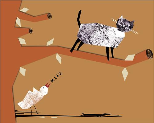 Gato y Mirlo by Yaelfran