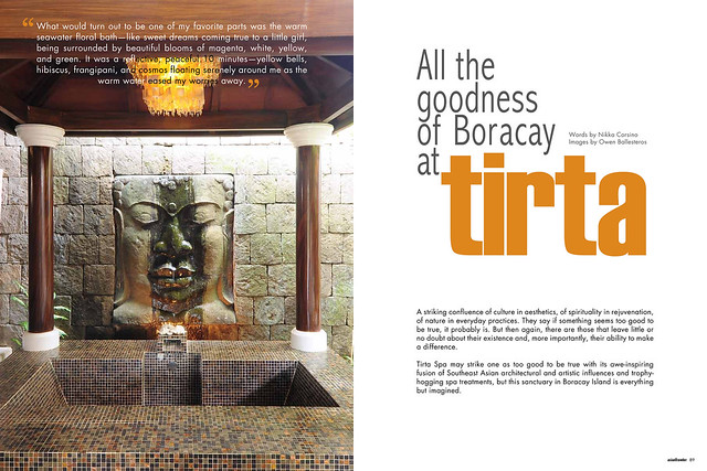 Tirta Spa spread