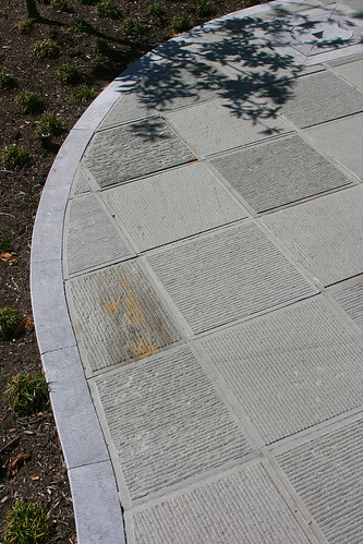 paving in chinese pavilion