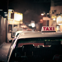 Ghost hour (MMortAH) Tags: china hk night square hongkong 50mm nikon taxi 14 nikkor  d90