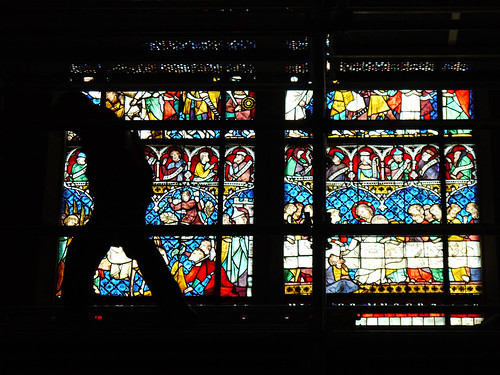 Repairing the stained glass windows