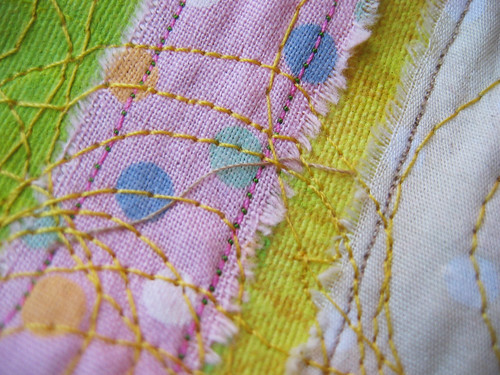 Painted & sewn - detail 3