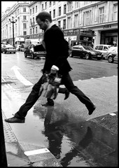 the puddle jumper (charlie colmer) Tags: ballet london puddle jump regentstreet leap puddlejumper leapingman shoptilyoudrop londonintherain charliecolmer buytilyoufly shoppinginengland