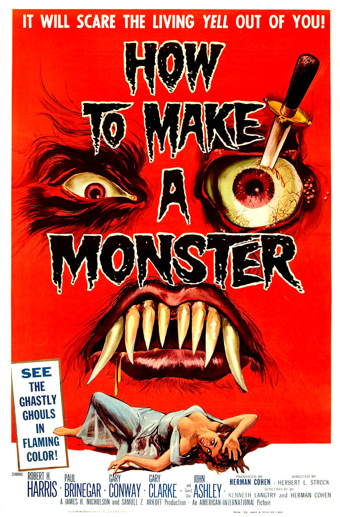 Albert Kallis - How to Make a Monster (American International, 1958) One Sheet