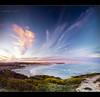 End of the day... (Chantal Steyn) Tags: ocean africa travel pink sunset panorama seascape tourism beach water clouds landscape southafrica coast sand nikon waves pastel tripod filter vegetation polarizer scape westerncape d300 arniston gnd nohdr waenhuiskrans kassiesbaai vertorama 1685mm