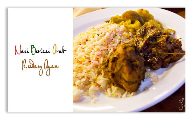 Nasi Beriani Arab Rendang Ayam