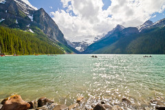 Lake Louise, Banff National Park, Alberta, Canada (Christopher Brian's Photography) Tags: canada alberta lakelouise banffnationalpark landscapephotography ultrawideangle glacialwater canoneos7d tokina1116mmf28atx116prodx