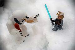 Luke attacks Wampa (geoftheref) Tags: new winter christchurch snow ice luke zealand planet lightsaber outer rim aotearoa hoth skywalker wampa geoftheref wompa