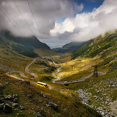 _MG_1499 (Adrian Petrisor) Tags: road panorama mountains bus clouds landscape strada nuvole curves curvy canyon cielo romania winding fagaras transfagarasan balealac