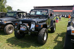 "1997 Jeep Wrangler Sahara - TJ - License Plate ""CRL OVR U"" (geepstir) Tags: pictures jeep photos pennsylvania pa photographs butler captures bantam bantamjeep bantamjeepfestival bantamjeepheritagefestival"