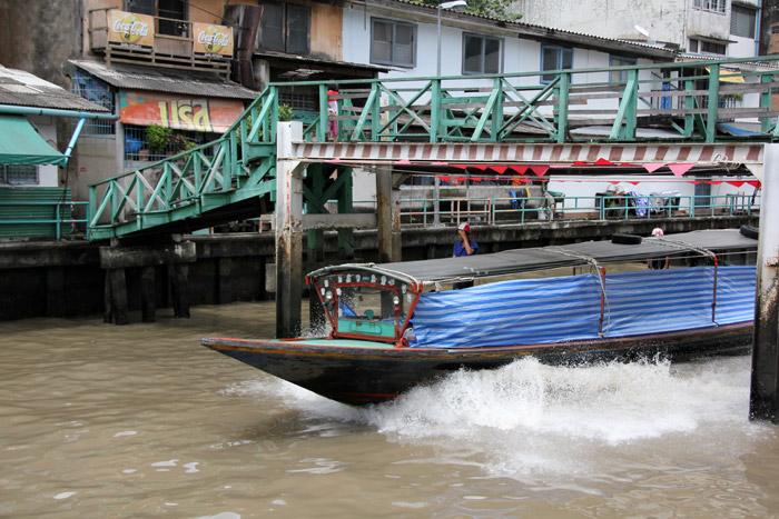 Public Boats along the Khlong Saen Saeb