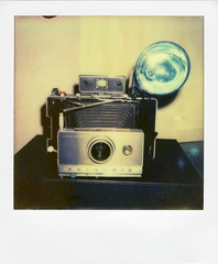 Polaroid Automatic 100 Land Camera (Nick Leonard) Tags: camera vegas stilllife film analog polaroid sx70 lasvegas nevada nick manualfocus accessory landcamera polaroidsx70 polaroidlandcamera flashbulb flashgun instantfilm epson4490 flashbar m3flashbulb polaroidautomatic100 firstflush colorshade nickleonard polaroidautomatic100landcamera polaroidpackfilmcamera polaroidsx70model2 polaroidpackcamera theimpossibleproject theimpossibleprojectfilm px680 px680ff 268flashgun