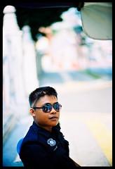 I'm the law - Judge Dred (khai_nomore) Tags: street portrait film bokeh f10 negative scanned noctilux 135mm rsm brickfields bokehlicious autaut klcentral kodakektar100 cvbessar3m