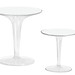Tip Top Table Clear - Furniture Hire London