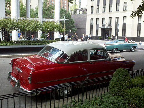 Red Chevrolet on Goethe