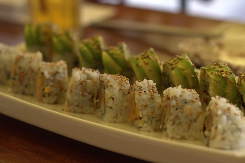 Spicy Tuna Rolls and Avocado Unagi Rolls
