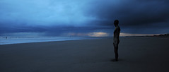 Approaching Storm - Crosby Beach (Ryan McGuinness Photography) Tags: england liverpool dusk naturallight powerful nightphotograpy mcginness anotherplace gormleystatues ryanmcguinness liverpoolphotographer crosbybeachstorm naturalatmosphere