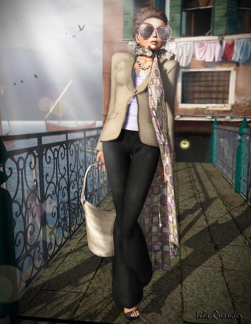 Mimikri Kay Blazer - Tabacco & Kay Pants - Black