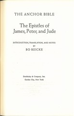 Anchor Bible: Epistles of James, Peter, and Jude Vol. 37 by Bo Ivar Reicke (1964