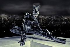 Meow (Zim Killgore) Tags: california woman black rooftop cat canon photography amy orchard suit batman 5d meow zim alienbee temecula catwoman killgore