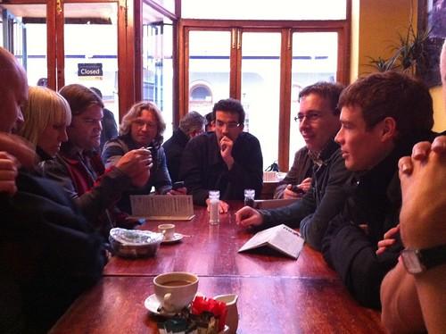 Peter van Westen enjoying coffee with Joomla community in Cape Town