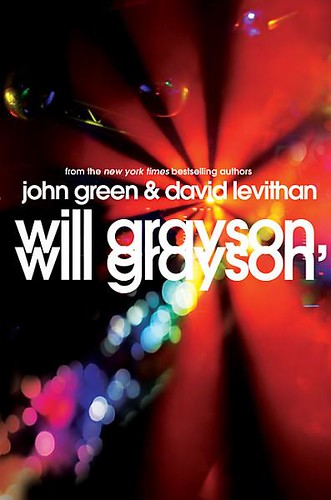 The cover for Will Grayson, Will Grayson (bright lights in a ray pattern)