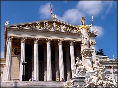 The Parliament of Austria with  Pallas-Athene Fountain in front by Ginas Pics