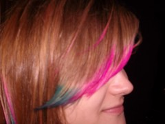 Bangs (Maria Clarite) Tags: pink blue colors hair fun style tips dye layered cosmetology
