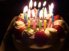 誕生ケーキ日のケーキ