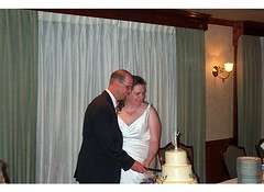 Vicki & Richard Cutting Cake