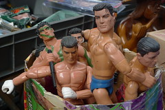 A Dime a Dozen (Mariasme) Tags: toys market many plastic commercial actionhero actionman gamewinner muscledoll lostamatch